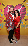 Jeremy Kushnier and wife attends the Opening Night Performance After Party for  'Head Over Heels' at Gustavino's  on July 26, 2018 in New York City.