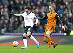 Omar Mascarell of Derby competes with George Saville of Wolves Football - Sky Bet Championship - Derby County vs Wolverhampton Wanderers - iPro Stadium Derby - Season 2014/15 - 8th November 2014 - Photo Malcolm Couzens/Sportimage