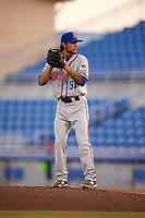 St. Lucie Mets relief pitcher Joshua Torres (51) gets ready to deliver a pitch during a game against the Dunedin Blue Jays on April 19, 2017 at Florida Auto Exchange Stadium in Dunedin, Florida.  Dunedin defeated St. Lucie 9-1.  (Mike Janes/Four Seam Images)