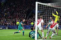 Jan Vertonghen of Tottenham Hotspur sees his effort hit the cross bar during AFC Ajax vs Tottenham Hotspur, UEFA Champions League Football at the Johan Cruyff Arena on 8th May 2019