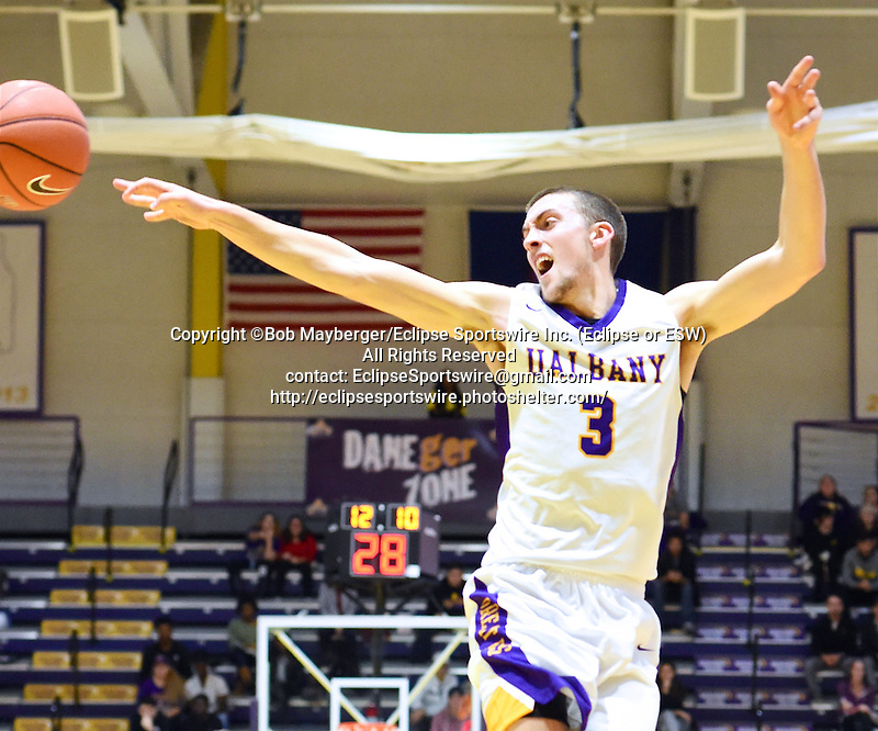 Albany defeats Oneonta 97-56 on November 16, 2016 at SEFCU Arena in Albany, New York.  (Bob Mayberger/Eclipse Sportswire)