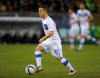 Sebastian Giovinco (ITA), during the friendly match Italy against USA at the Stadium Luigi Ferraris at Genova Italy on february the 29th, 2012.