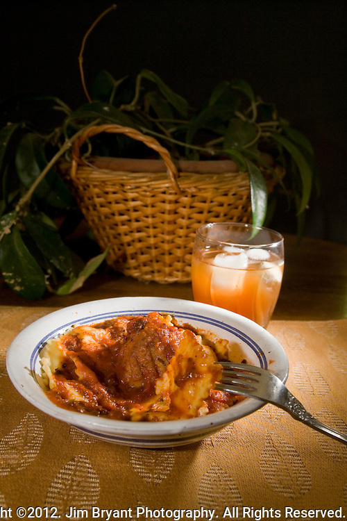 Italian Meat ball and cheese Ravioli ©2012. Jim Bryant Photo. All Rights Reserved.
