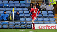 Alex Gilbey celebrates scoring MK Dons opening goal during Oxford United vs MK Dons, Sky Bet EFL League 1 Football at the Kassam Stadium on 1st January 2018