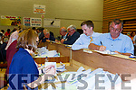 Paddy Flynn Cordal checks the tally at Killarney Count Centre on Saturday