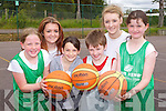 At the team Kerry Basketball camp at Mounthawk School on Thursday were: Maria Dwyer, Shannon Lowe, Aine Rice, Jack O'Connor, Rosie Young, Alan Griffin.