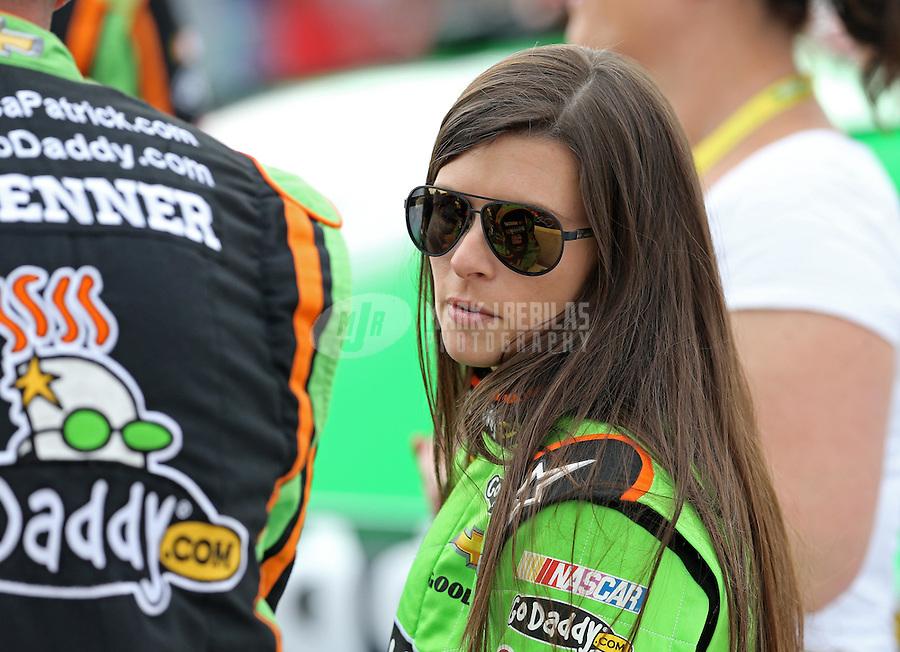 Mar. 3, 2013; Avondale, AZ, USA; NASCAR Sprint Cup Series driver Danica Patrick prior to the Subway Fresh Fit 500 at Phoenix International Raceway. Mandatory Credit: Mark J. Rebilas-