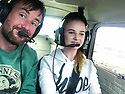 15/08/18<br /> <br /> ***Video:   https://youtu.be/XDNa_lycFgw ****<br /> <br /> Will Flanagan and Amy Boulton at the controls before hitting the balloon.<br /> <br /> A fourteen-year-old girl on her first ever flying lesson had the fright of her life when the plane hit a gas-filled balloon yesterday. <br /> Amy Boulton screamed as the Cessna 152 collided with a bright pink balloon shaped as the number 2 as it flew at 1000 ft above a Nottinghamshire airfield at 100mph.<br /> <br /> Instructor Will Flanagan said: &quot;This was Amy's first flight. She had been at the controls but I was flying in to land at Gamston when I suddenly saw it - I thought it was a bird at first. It could've been a big problem if it had wrapped around the propeller. But thankfully it didn't cause any damage and we landed safely. It certainly gave Amy a shock.&quot;<br />  <br /> All Rights Reserved: F Stop Press Ltd. +44(0)1335 344240  www.fstoppress.com www.rkpphotography.co.uk