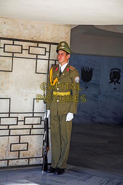 Soldier guarding the Memorial to Jose Marti, Cementerio Santa Ifigenia, Santiago de Cuba, Cuba