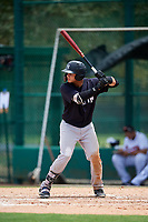 GCL Yankees West left fielder Stanley Rosario (38) at bat during the second game of a doubleheader against the GCL Braves on July 30, 2018 at Champion Stadium in Kissimmee, Florida.  GCL Braves defeated GCL Yankees West 5-4.  (Mike Janes/Four Seam Images)