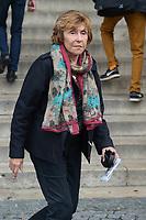Édith Cresson - Hommage à Gonzague Saint Bris en l'église Saint-Sulpice à Paris, France - 28/9/2017