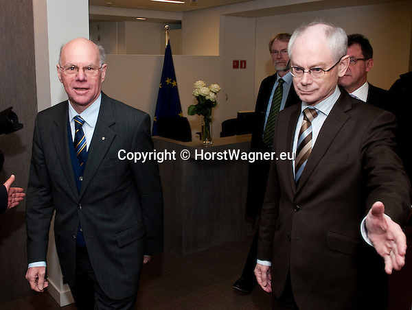Brussels-Belgium - February 01, 2012 -- Visit to Brussels by Prof. Dr. Norbert LAMMERT (le), President / Speaker of the German Parliament (Deutscher Bundestag); here, meeting with Herman VAN ROMPUY (ri), President of the European Council -- Photo: © HorstWagner.eu
