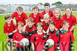 The Fossa NS team that participated in the Killarney Garda primary schools football blitz in Fitzgerald Stadium on Thursday front row l-r: Cian Doyle, Charlie Keating, Darren Ryan, Jack clifford. Middle row: Harry Buckley, Ruairi Coughlan, Rossa Bellew, Maud Kelly. Back row: Colm Talbot, Padraic Talbot, Emmet O'Shea Sarah Sheahan