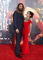 LOS ANGELES, CA - NOVEMBER 13: Jason Momoa and Lisa Bonet at the Justice League film Premiere on November 13, 2017 at the Dolby Theatre in Los Angeles, California. Credit: Faye Sadou/MediaPunch