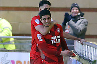 O's Ruel Sotiriou celebrates after scoring O's 2nd goal during Leyton Orient vs Newport County, Sky Bet EFL League 2 Football at The Breyer Group Stadium on 25th January 2020