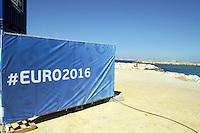 9 juin 2016 plage du prado situe juste derriere la Fan Zone
