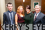 Night out<br /> -----------<br /> Having good fun at the Kilmoyley hurling social last friday night in the Ballyroe Hts hotel,Tralee were L-R Shane,Lorna,Regina&amp;Laurance O'Regan