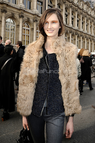 Hotel de Ville, Paris, France. 29 February 2012..Model leaving Dries Van Noten's ready to wear fashion-show © C.Granier-Deferre/Newspictures/MediaPunch Inc. ***FOR USA ONLY***