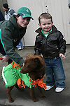 Leon Kirwan with Conor Kavanagh and Monty the Dog at the 2010 St Patrick's Day Parade...Photo NEWSFILE/Jenny Matthews.(Photo credit should read Jenny Matthews/NEWSFILE)....This Picture has been sent you under the condtions enclosed by:.Newsfile Ltd..The Studio,.Millmount Abbey,.Drogheda,.Co Meath..Ireland..Tel: +353(0)41-9871240.Fax: +353(0)41-9871260.GSM: +353(0)86-2500958.email: pictures@newsfile.ie.www.newsfile.ie.FTP: 193.120.102.198.
