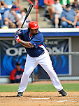 14 March 2008: Washington Nationals' infielder Dmitri Young in action during a Spring Training game against the Cleveland Indians at Space Coast Stadium, in Viera, Florida. The Nationals defeated the visiting Indians 8-4 as both teams fielded split squads home and away...Mandatory Photo Credit: Ed Wolfstein Photo