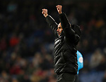Josep Guardiola manager of Manchester City celebrates their third goal during the Premier League match at Turf Moor, Burnley. Picture date: 3rd December 2019. Picture credit should read: Simon Bellis/Sportimage