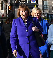 Harriet Harman<br /> Female Labour MPs and members of the Labour Party at a photocall launching a year long campaign to celebrate the centenary of women's suffrage, at House of Commons, London on February 06, 2018.<br /> CAP/JOR<br /> &copy;JOR/Capital Pictures