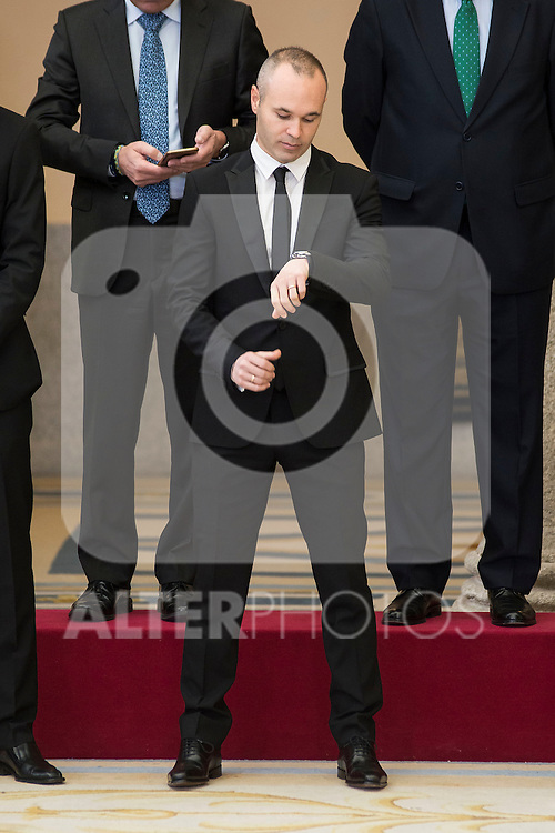 Andres Iniesta attends to the National Sports Awards 2015 at El Pardo Palace in Madrid, Spain. January 23, 2017. (ALTERPHOTOS/BorjaB.Hojas)