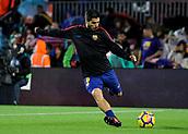 4th November 2017, Camp Nou, Barcelona, Spain; La Liga football, Barcelona versus Sevilla; Luis Suarez of FC Barcelona during warm up