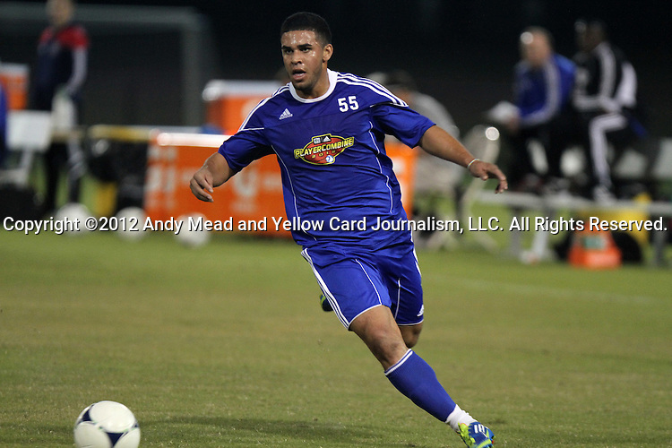 06 January 2012: Dom Dwyer (South Florida) (ENG). The 2012 MLS Player Combine was held on the cricket oval at Central Broward Regional Park in Lauderhill, Florida.