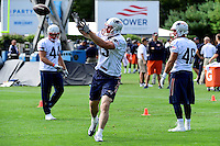 Wednesday, August 17, 2016: New England Patriots tight end Bear Pascoe (83) makes a catch at a joint training camp session between the Chicago Bears and the New England Patriots held at Gillette Stadium in Foxborough Massachusetts. Eric Canha/CSM