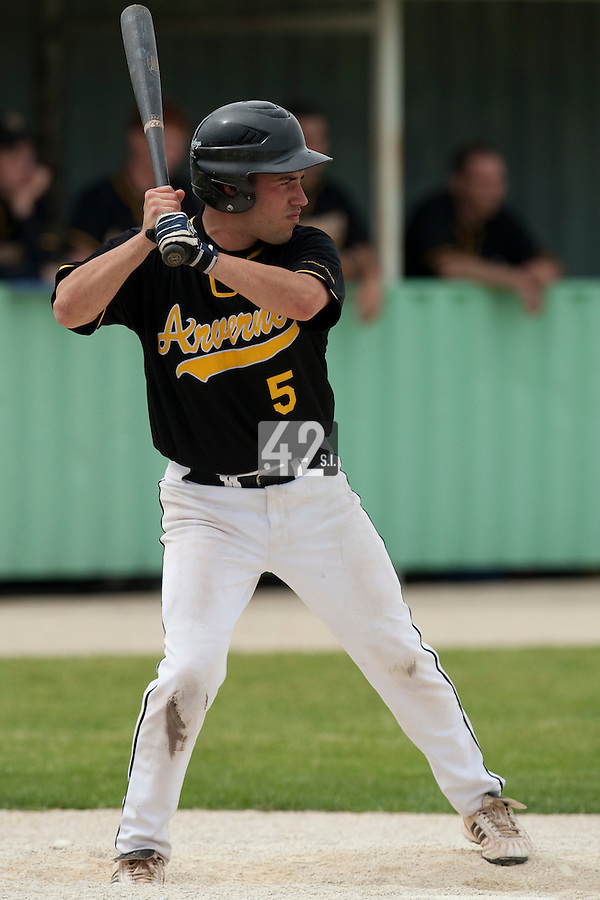 21 May 2009: Bruno Gaillard of Clermont-Ferrand is seen at bat during the 2009 challenge de France, a tournament with the best French baseball teams - all eight elite league clubs - to determine a spot in the European Cup next year, at Montpellier, France.