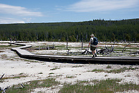 Boardwalk Along Biscuit Basin in Yellowstone National Park