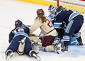 Kelsey MacSorley (Maine - 16), ?, Meagan Mangene (BC - 24), Brittany Ott (Maine - 29), Jessica Hall (Maine - 7) - The Boston College Eagles defeated the visiting University of Maine Black Bears 10-0 on Saturday, December 1, 2012, at Kelley Rink in Conte Forum in Chestnut Hill, Massachusetts.