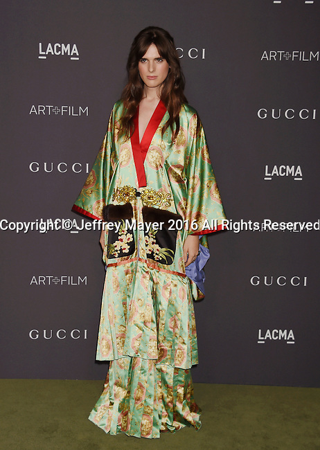 LOS ANGELES, CA - OCTOBER 29: Actress/model Hari Nef attends the 2016 LACMA Art + Film Gala honoring Robert Irwin and Kathryn Bigelow presented by Gucci at LACMA on October 29, 2016 in Los Angeles, California.
