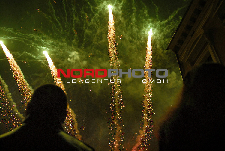 01.01.2014., Slavonski Brod,Croatia  - New Year celebrations .Fireworks over city  on the main square.<br /> Photo: Ivica Galovic/PIXSELL