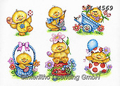 Interlitho-Theresa, EASTER, OSTERN, PASCUA, paintings+++++,6 chicks,KL4569,#e#, EVERYDAY ,chicks,chicken