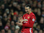 Zlatan Ibrahimovic of Manchester United shows his frustration during the Premier League match at the Old Trafford Stadium, Manchester. Picture date: November 27th, 2016. Pic Simon Bellis/Sportimage