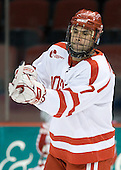 Brian Strait (BU - 7) - The Boston University Terriers defeated the University of Maine Black Bears 1-0 (OT) on Saturday, February 16, 2008 at Agganis Arena in Boston, Massachusetts.