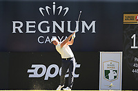 Jordan Smith (ENG) tees off the 18th tee during Friday's Round 2 of the 2018 Turkish Airlines Open hosted by Regnum Carya Golf &amp; Spa Resort, Antalya, Turkey. 2nd November 2018.<br /> Picture: Eoin Clarke | Golffile<br /> <br /> <br /> All photos usage must carry mandatory copyright credit (&copy; Golffile | Eoin Clarke)