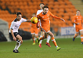 04/12/2018 FA Youth Cup 3rd Round Blackpool v Derby County<br /> <br /> Nathan Shaw attack