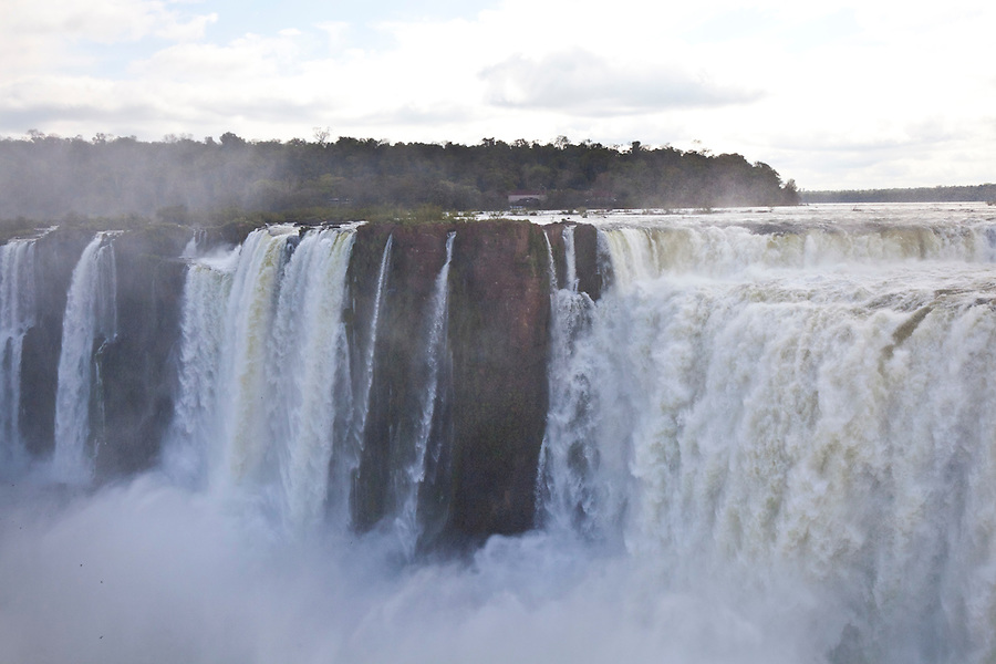 Iguazu falls as seen from the province of Misiones, Argentina.  This is the Garganta del Diablo (Devil's Throat).