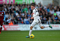 Pictured: Sunday 27 November 2011<br /> Re: Premier League football Swansea City FC v Aston Villa at the Liberty Stadium, south Wales.