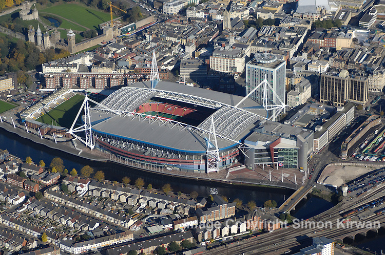 Millennium Stadium, Cardiff from the Air