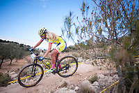 Chelva, SPAIN - MARCH 6: Raquel Ramon during Spanish Open BTT XCO on March 6, 2016 in Chelva, Spain