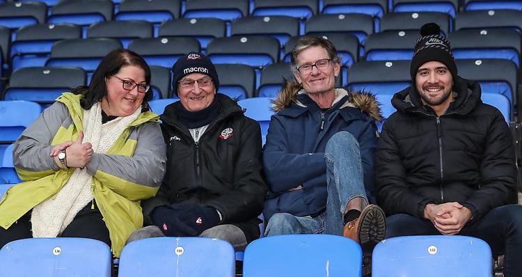 Bolton Wanderers' supporters<br /> <br /> Photographer Andrew Kearns/CameraSport<br /> <br /> The EFL Sky Bet Championship - Bolton Wanderers v Rotherham United - Wednesday 26th December 2018 - University of Bolton Stadium - Bolton<br /> <br /> World Copyright © 2018 CameraSport. All rights reserved. 43 Linden Ave. Countesthorpe. Leicester. England. LE8 5PG - Tel: +44 (0) 116 277 4147 - admin@camerasport.com - www.camerasport.com