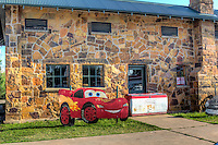 """The Rock Cafe in Stroud Oklahoma on Route 66. Originally opened in 1939 by Roy Rives, and still in operation today, and a landmark on Route 66. Current owner Dawn Welch served as inspiration for the Character of """"Sally Carrera"""" in the animated movie """"Cars""""."""