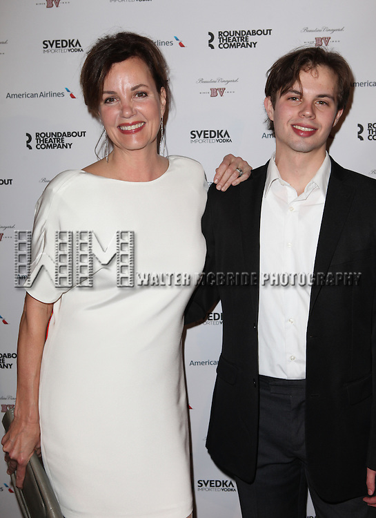 Margaret Colin & son Sam attending the Roundabout Theatre Company's 2013 Spring Gala at Hammerstein Ballroom in New York City on 3/11/2013