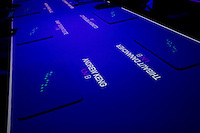 Names of diners are projected onto the dinning room table at the Ultraviolet restaurant in Shanghai, China on 27th Sept 2013.  The restaurant in run by Chef Paul Pairet. <br /> <br /> Photo by Qilai Shen / Sinopix