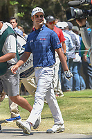 Shubhankar Sharma (IND) smiles at cheering fans as he departs the 3rd tee during round 4 of the World Golf Championships, Mexico, Club De Golf Chapultepec, Mexico City, Mexico. 3/4/2018.<br /> Picture: Golffile | Ken Murray<br /> <br /> <br /> All photo usage must carry mandatory copyright credit (&copy; Golffile | Ken Murray)