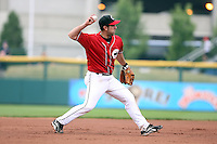 July 20th 2008:  Shortstop Jorge Velandia of the Buffalo Bisons, Class-AAA affiliate of the Cleveland Indians, during a game at Dunn Tire Park in Buffalo, NY.  Photo by:  Mike Janes/Four Seam Images